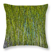 Heather Lake Grass Throw Pillow
