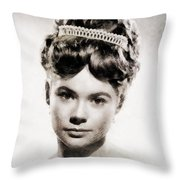 Heather Sears, Vintage Actress Throw Pillow