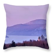 Heavenly Alpenglow Throw Pillow