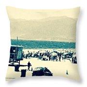 Heavenly Beach In Reach Throw Pillow