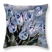 Heavenly Blue Throw Pillow