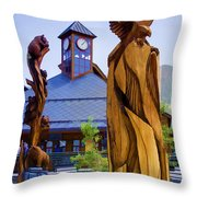 Heavenly Carvings Throw Pillow