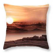 Heavenly City In The Sky Throw Pillow
