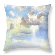 Heavenly Clouded Beautiful Sky Throw Pillow