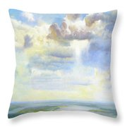 Heavenly Clouded Beauty Abstract Realism Throw Pillow