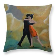 Heavenly Dancers Throw Pillow