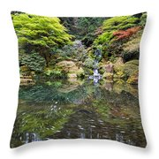 Heavenly Falls And The Swirly Lower Pond Throw Pillow