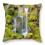 Heavenly Falls In Spring Throw Pillow