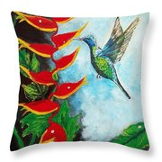 Heavenly Heliconia Throw Pillow