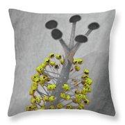 Heavenly Hibiscus Bw Yellow 13 Throw Pillow