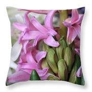 Heavenly Hyacinths Throw Pillow