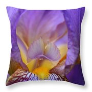 Heavenly Iris Throw Pillow