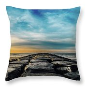 Heavenly Jetty Throw Pillow