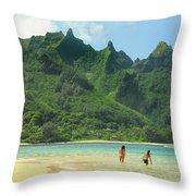 Heavenly Kauai Lagoon Throw Pillow