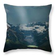 Heavenly Lake Louise Throw Pillow