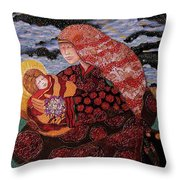 Heavenly Mother And Child Throw Pillow