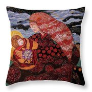Heavenly Mother And Child Throw Pillow by Dede Shamel Davalos