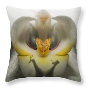 Heavenly Orchid Throw Pillow