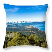 Heavenly South Lake Tahoe View 1 - Left Panel Throw Pillow