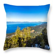 Heavenly South Lake Tahoe View 1 - Right Panel Throw Pillow