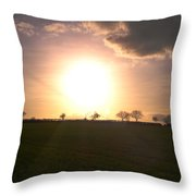 Heavenly Sunset Over Suffolk Throw Pillow