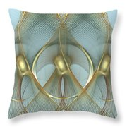 Heavenly Wings Of Gold Throw Pillow