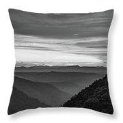 Heaven's Gate - West Virginia Bw Throw Pillow