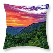 Heaven's Gate - West Virginia - Paint Throw Pillow