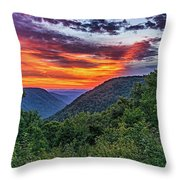 Heaven's Gate - West Virginia Throw Pillow