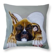 Heavens Little Angel Two Throw Pillow by Debra Campbell