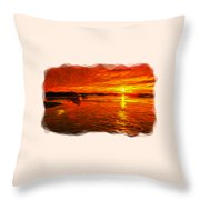 Heavens Of Fire 2 Throw Pillow
