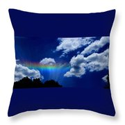 Heavens Rainbow Throw Pillow