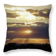 Heaven's Rays 2 Throw Pillow