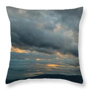 Heavy Clouds Over Mountains Throw Pillow