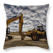 Heavy Duty Earth Movers Throw Pillow