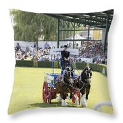 Heavy Horses Competition Throw Pillow