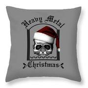 Heavy Metal Christmas Throw Pillow