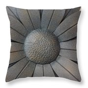 Heavy Metal Flora Throw Pillow