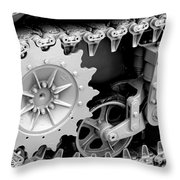 Heavy Metal In Gray Throw Pillow