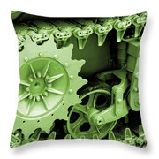 Heavy Metal In Green Throw Pillow