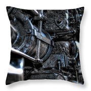 Heavy Piston Throw Pillow by Scott Wyatt