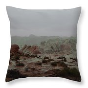 Heavy Rain In Valley Of Fire Throw Pillow
