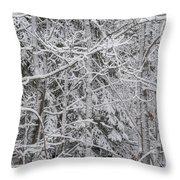 Heavy Snow Throw Pillow