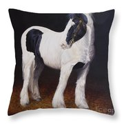 Heavy Stallion  Glin Fair Throw Pillow