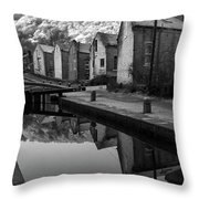 Rochdale Canal, Yorkshire, England Throw Pillow