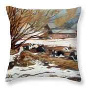 Heber Dairy Throw Pillow