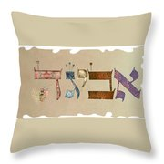Hebrew Calligraphy-avigad Throw Pillow