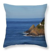 Heceta Head, Oregon Throw Pillow
