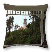 Heceta Lighthouse Throw Pillow