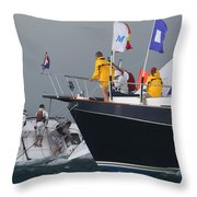 Hectic Finish Throw Pillow